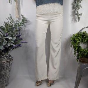 ESCADA white silk Georgette high waist trousers291
